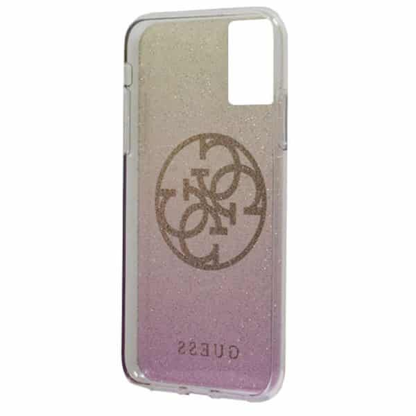 carcasa samsung galaxy s20 plus licencia guess glitter rosa y dorado 3