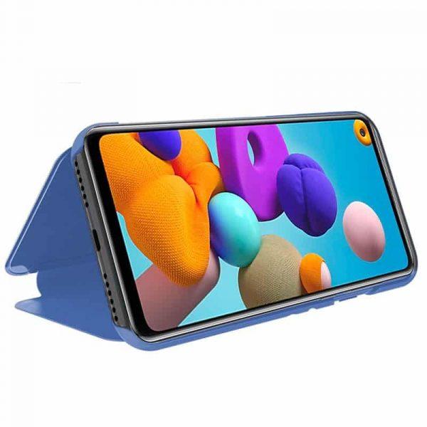 Funda Con Tapa Samsung Galaxy A21s Clear View Azul 2