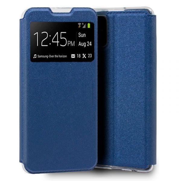 funda flip cover samsung galaxy a51 5g liso azul 1