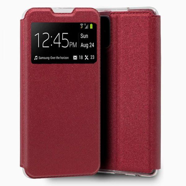 funda flip cover samsung galaxy a51 5g liso rojo 1