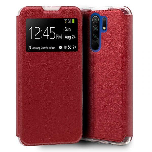 Funda Con Tapa Xiaomi Redmi 9 Rojo 1