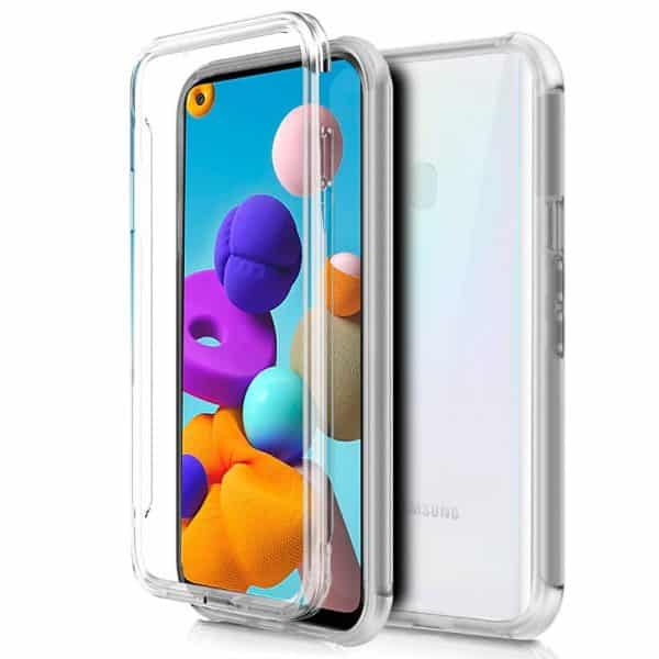 Funda Silicona 3D Samsung Galaxy A21s (Transparente Frontal + Trasera) 1