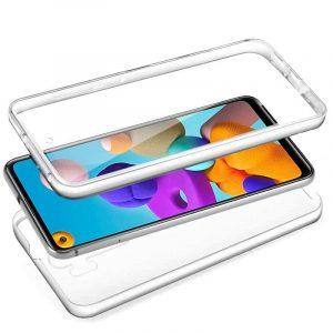 Funda Silicona 3D Samsung Galaxy A21s (Transparente Frontal + Trasera) 3
