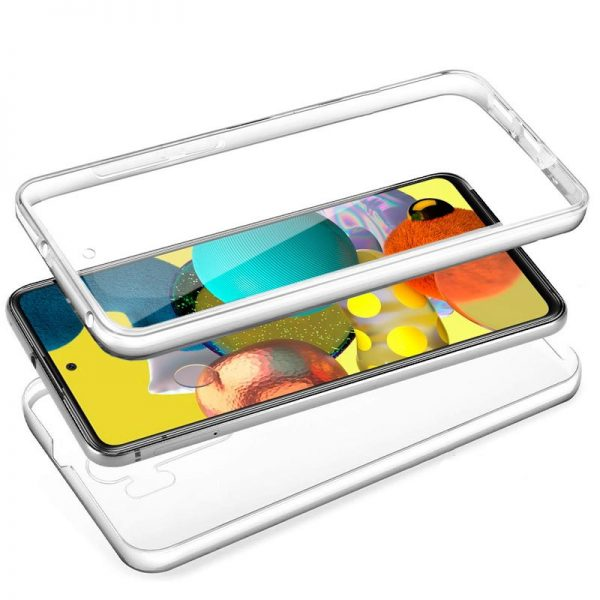 Funda Silicona 3D Samsung Galaxy A51 5G (Transparente Frontal + Trasera) 2