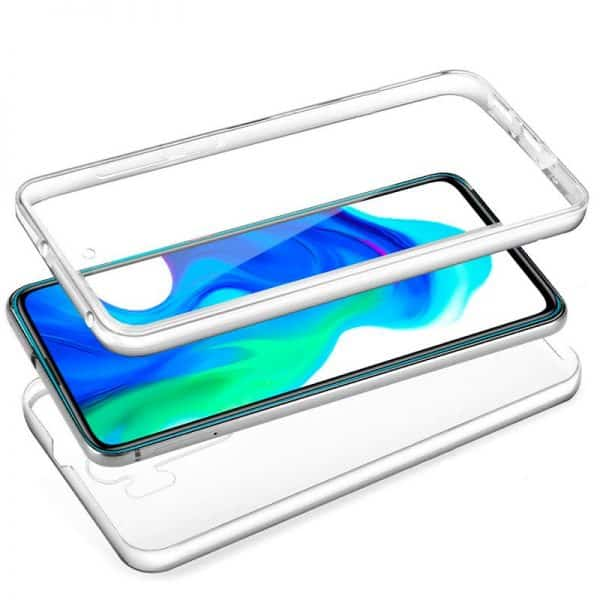 funda silicona 3d xiaomi pocophone f2 pro transparente frontal trasera 2