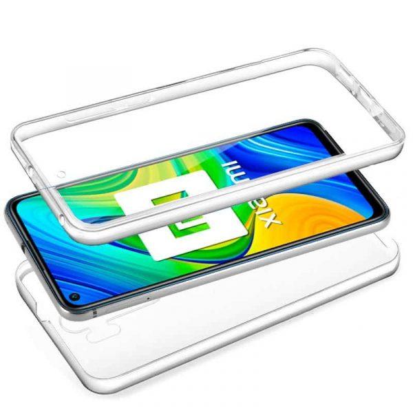 Funda Silicona 3D Xiaomi Redmi Note 9 (Transparente Frontal + Trasera) 2