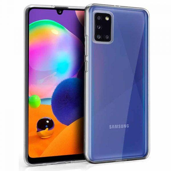 Funda Silicona Samsung Galaxy A31 Transparente 1