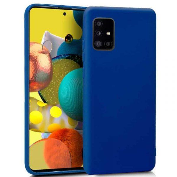 Funda Silicona Samsung Galaxy A51 5G Azul 1