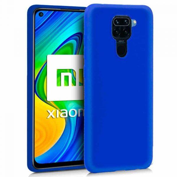 Funda Silicona Xiaomi Redmi Note 9 Azul 1