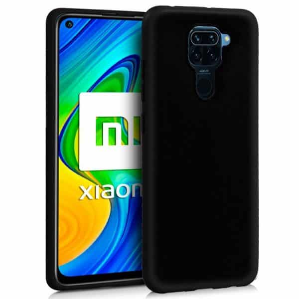 Funda Silicona Xiaomi Redmi Note 9 Negro 1