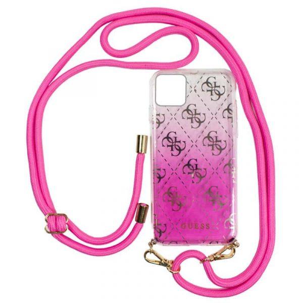 Carcasa iPhone 11 Pro Guess Cordón Rosa 1