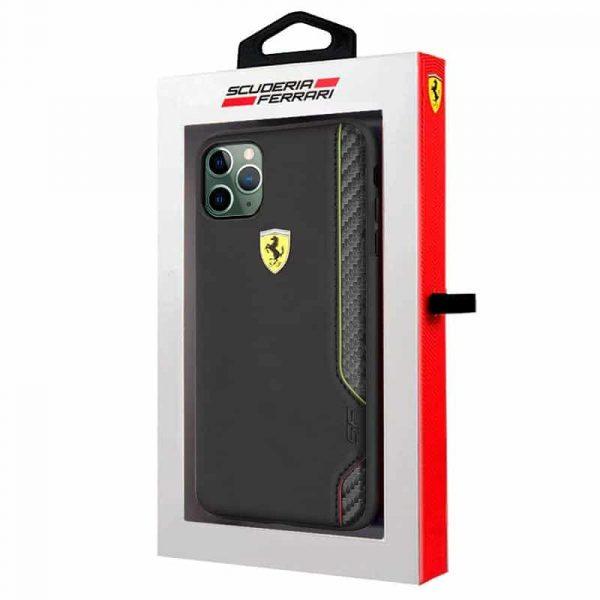 carcasa iphone 11 pro max licencia ferrari negro 2