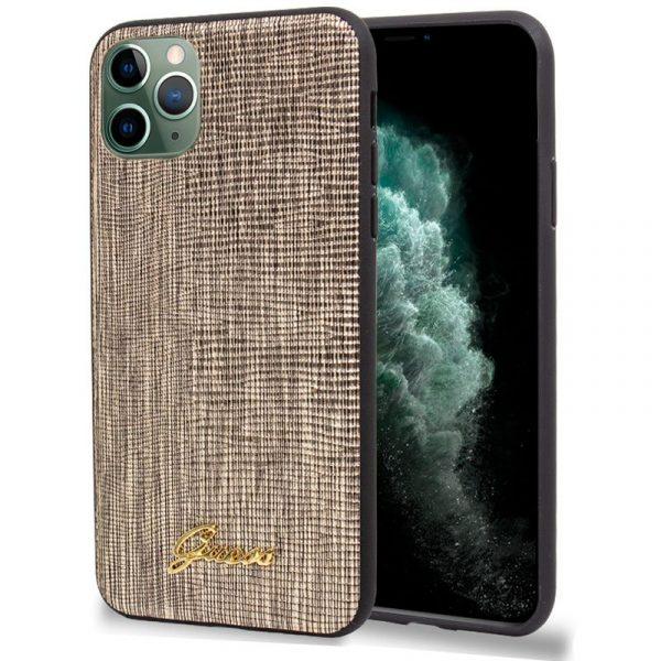 Carcasa iPhone 11 Pro Max Guess Textura Dorado 1