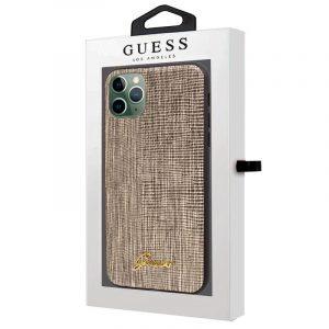 Carcasa iPhone 11 Pro Max Guess Textura Dorado 4