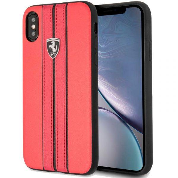 Carcasa iPhone XR Ferrari Piel Rojo 1
