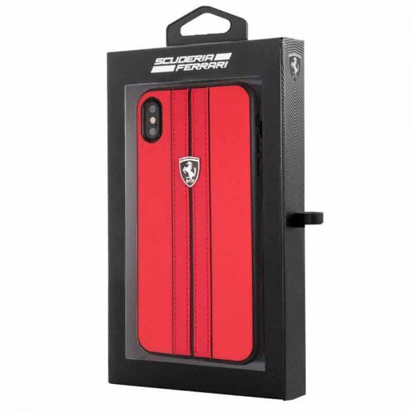 Carcasa iPhone XR Ferrari Piel Rojo 2
