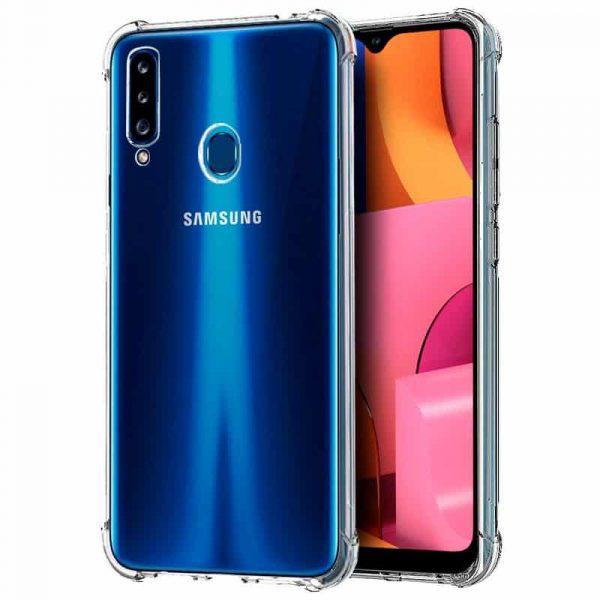 Carcasa Samsung Galaxy A20s AntiShock Transparente 1