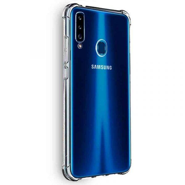 Carcasa Samsung Galaxy A20s AntiShock Transparente 2