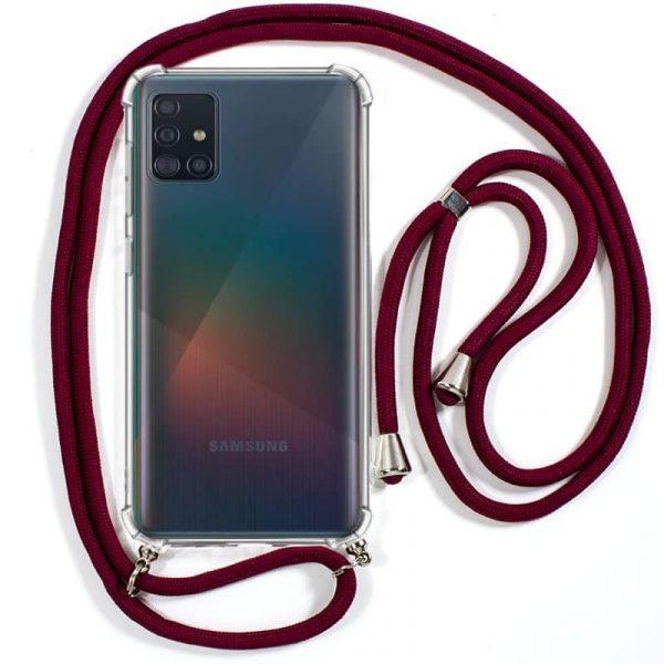 Carcasa Samsung Galaxy A71 Cordón Granate 1