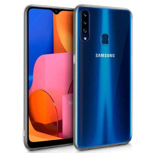 Funda Silicona Samsung Galaxy A20s Transparente 1
