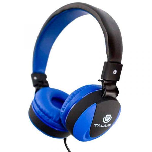 auriculares cascos hp5005 talius cable jack 35 mm azul negro 1