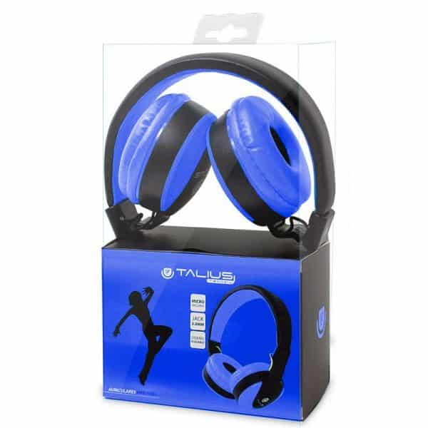 auriculares cascos hp5005 talius cable jack 35 mm azul negro 2