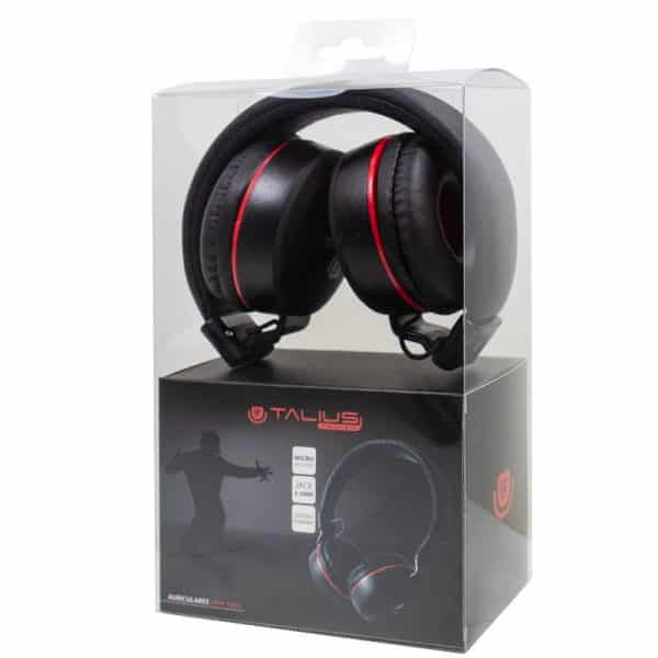 auriculares cascos hp5005 talius cable jack 35 mm negro 2