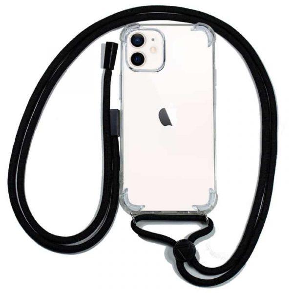 carcasa iphone 12 mini cordon negro 1