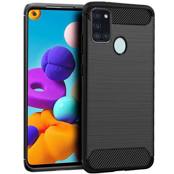 Carcasa Samsung Galaxy A21s Carbón Negro 1