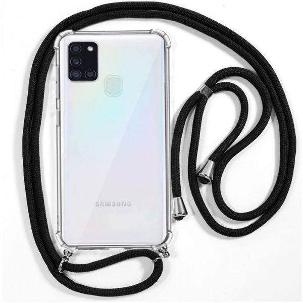 Carcasa Samsung Galaxy A21s Cordón Negro 1