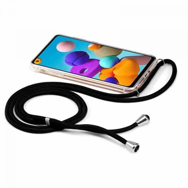 Carcasa Samsung Galaxy A21s Cordón Negro 2