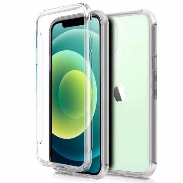 funda silicona 3d iphone 12 12 pro transparente frontal trasera 1