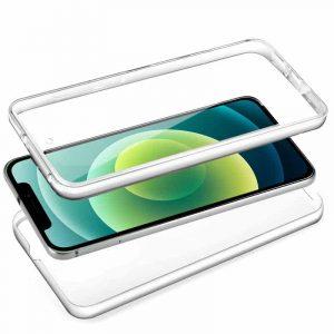 funda silicona 3d iphone 12 12 pro transparente frontal trasera 2