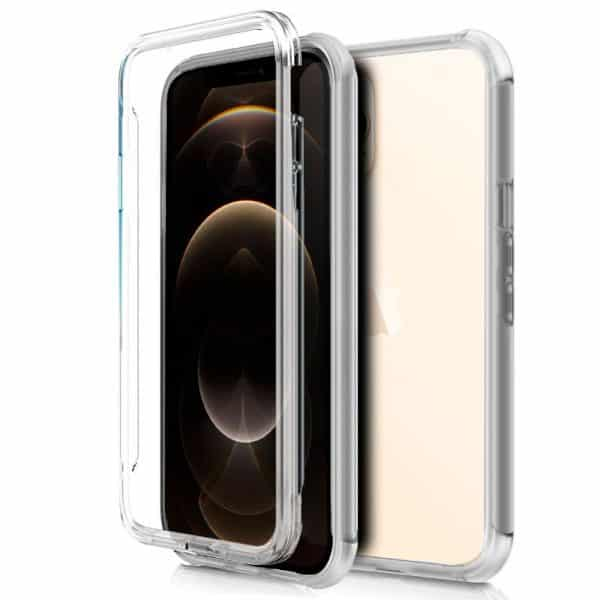 funda silicona 3d iphone 12 pro max transparente frontal trasera 1