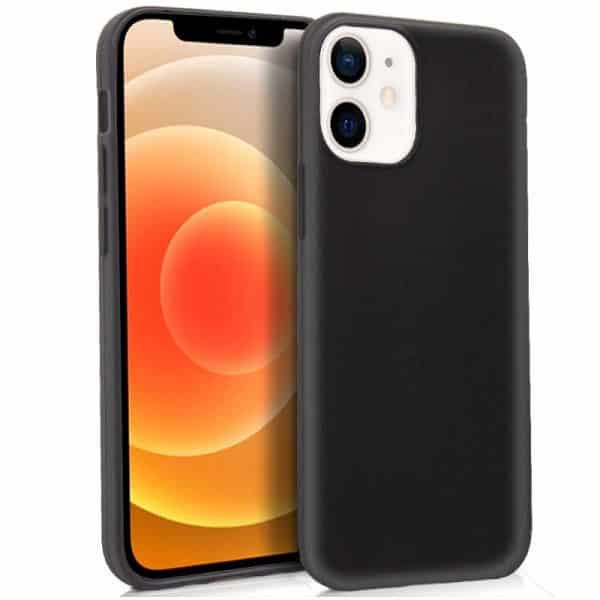 funda silicona iphone 12 mini negro 1
