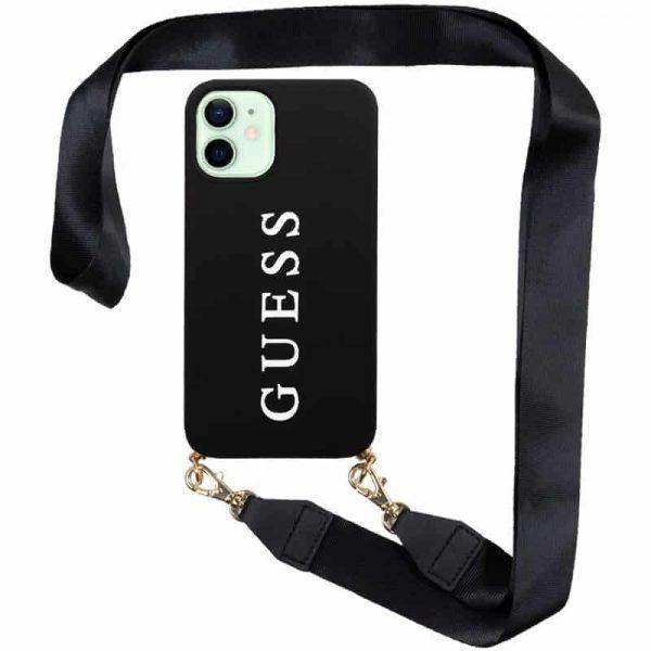 carcasa iphone 12 12 pro licencia guess negro colgante 1