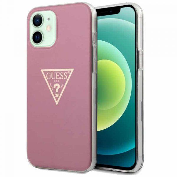 carcasa iphone 12 12 pro licencia guess rosa 1