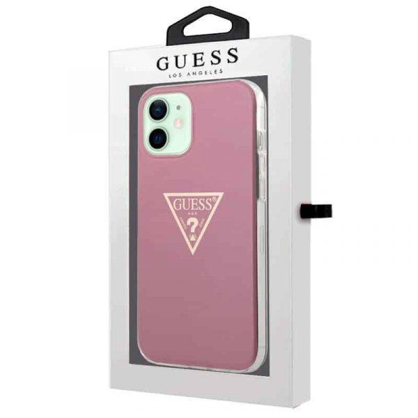 carcasa iphone 12 12 pro licencia guess rosa 2