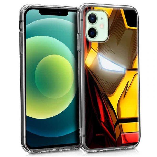 carcasa iphone 12 12 pro licencia marvel iron man 1