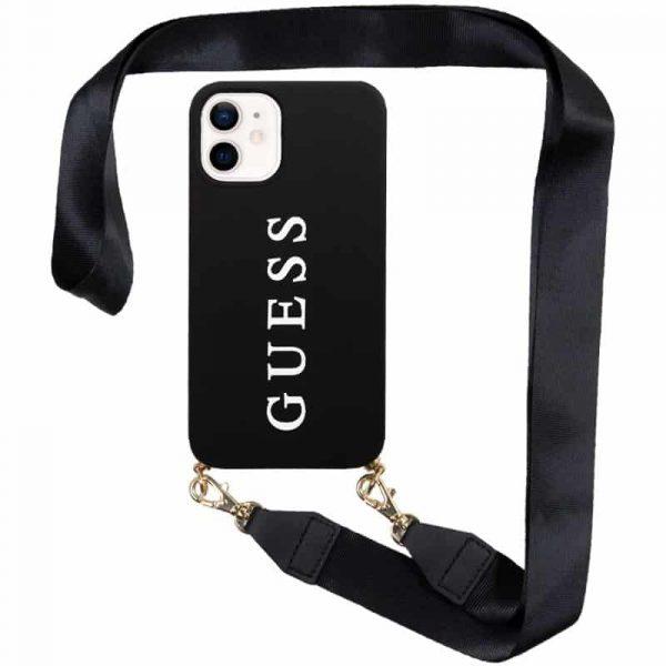 carcasa iphone 12 mini licencia guess negro colgante 1