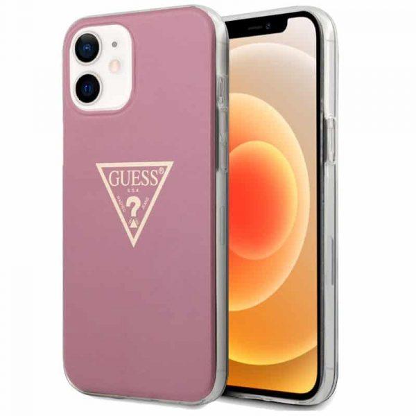 carcasa iphone 12 mini licencia guess rosa 1