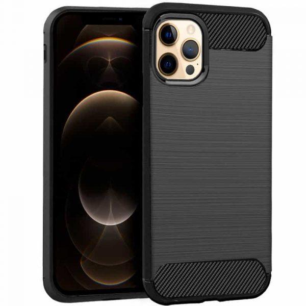 carcasa iphone 12 pro max carbon negro 1