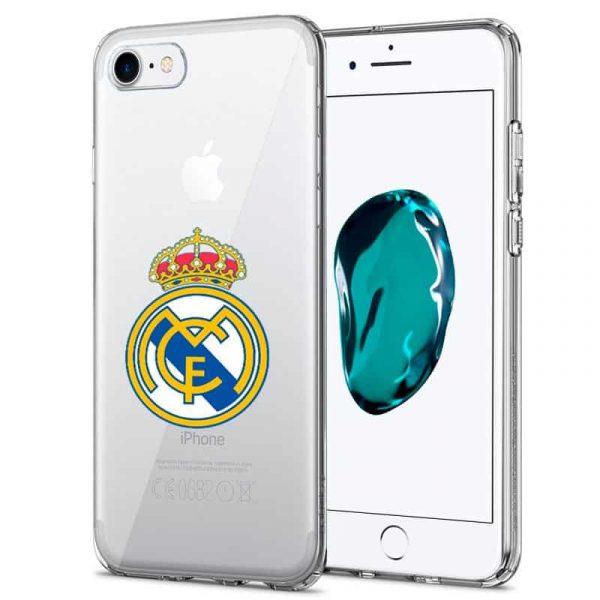 carcasa iphone 7 8 se 2020 licencia futbol real madrid transparente 1