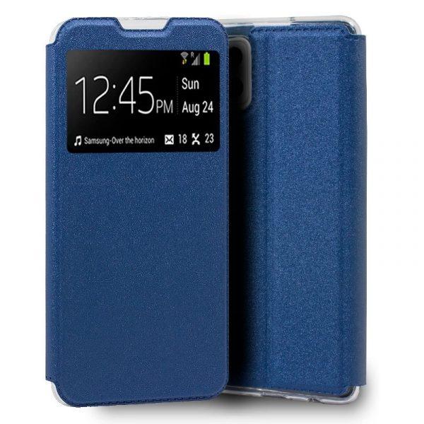 funda flip cover samsung galaxy a42 5g liso azul 1