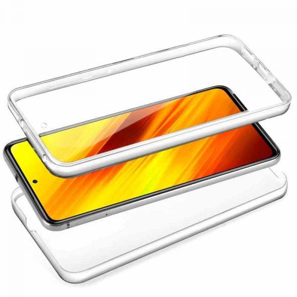 funda silicona 3d xiaomi pocophone x3 transparente frontal trasera 2