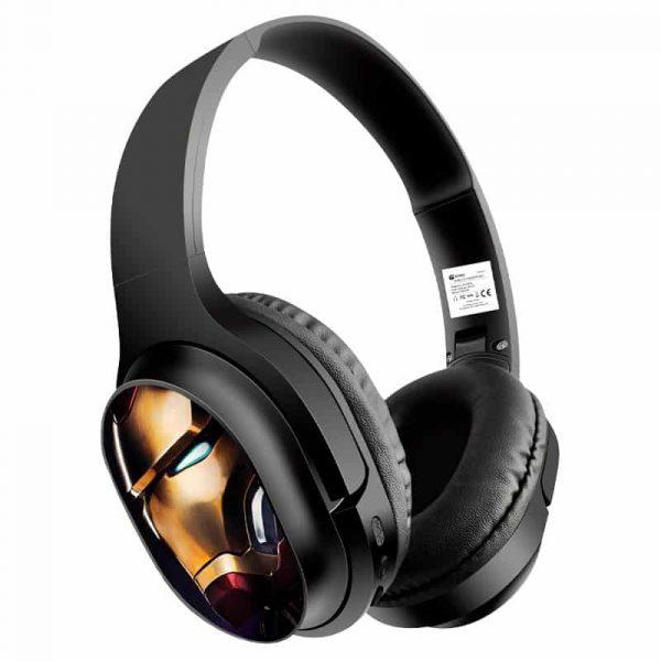 auriculares stereo bluetooth cascos licencia oficial marvel ironman 1