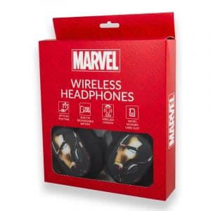 auriculares stereo bluetooth cascos licencia oficial marvel ironman 2