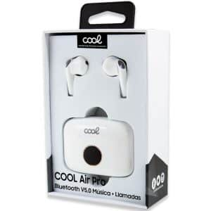 auriculares stereo bluetooth dual pod earbuds lcd cool air pro blanco 3