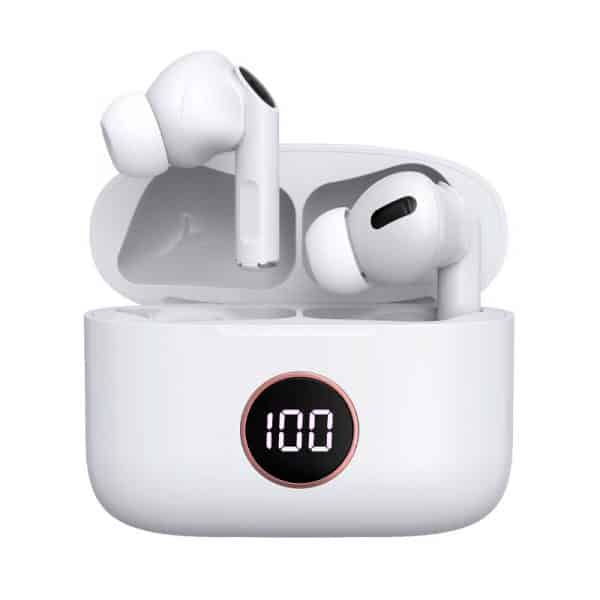 auriculares stereo bluetooth dual pod earbuds lcd cool air pro blanco 4