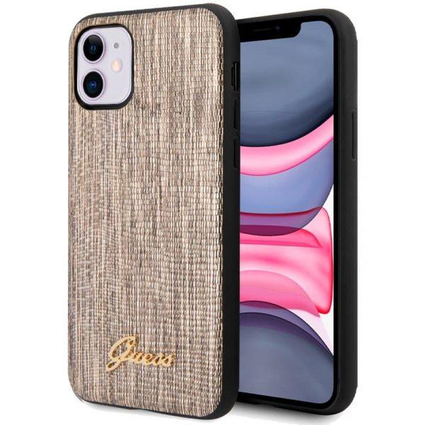 carcasa iphone 11 licencia guess glitter dorado 1